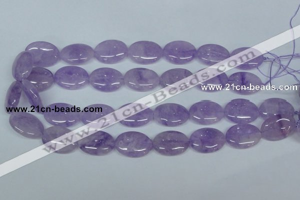 CNA450 15.5 inches 22*30mm oval natural lavender amethyst beads