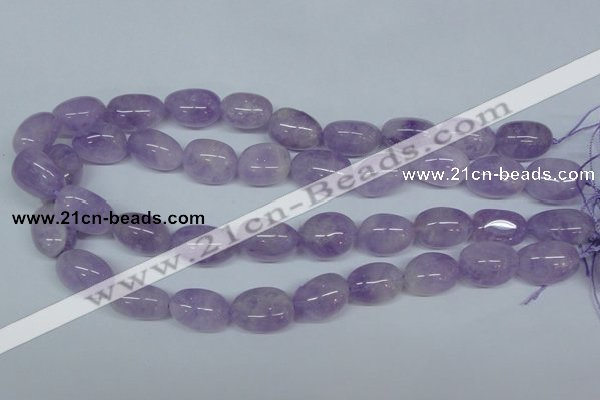 CNA466 15.5 inches 14*18mm nugget natural lavender amethyst beads