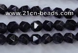 CNA500 15 inches 8mm faceted nuggets amethyst gemstone beads