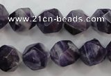 CNA506 15 inches 16mm faceted nuggets amethyst gemstone beads