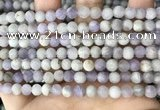 CNA676 15.5 inches 6mm round matte lavender amethyst beads