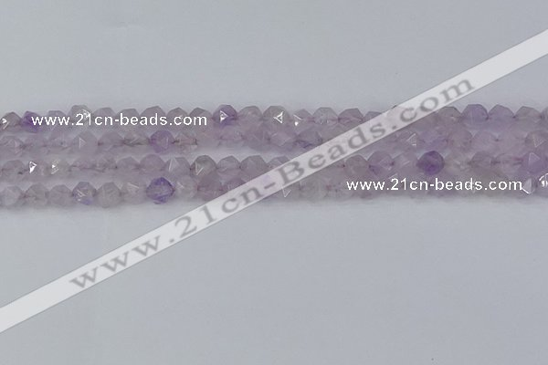 CNA761 15.5 inches 6mm faceted nuggets light lavender amethyst beads