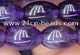CNA772 15.5 inches 8*11mm rice amethyst gemstone beads