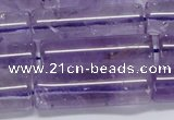 CNA816 15.5 inches 10*30mm tube natural light amethyst beads