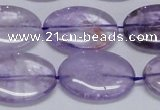 CNA834 15.5 inches 18*25mm oval natural light amethyst beads