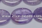 CNA836 15.5 inches 25*30mm oval natural light amethyst beads
