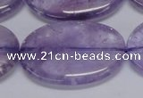 CNA838 15.5 inches 30*40mm oval natural light amethyst beads