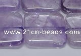 CNA847 15.5 inches 30mm square natural light amethyst beads
