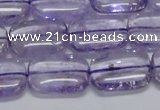 CNA851 15.5 inches 12*16mm rectangle natural light amethyst beads