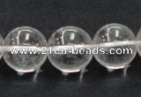 CNC06 15.5 inches 16mm round grade AB natural white crystal beads