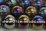 CNC254 15.5 inches 12mm round AB-color white crystal beads