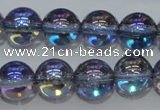 CNC302 15.5 inches 8mm round AB-color white crystal beads
