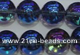 CNC304 15.5 inches 12mm round AB-color white crystal beads