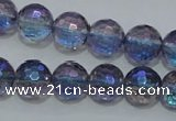CNC311 15.5 inches 6mm faceted round AB-color white crystal beads