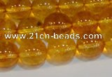 CNC403 15.5 inches 10mm round dyed natural white crystal beads