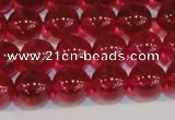 CNC412 15.5 inches 8mm round dyed natural white crystal beads