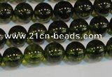 CNC430 15.5 inches 4mm round dyed natural white crystal beads