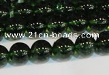 CNC441 15.5 inches 6mm round dyed natural white crystal beads
