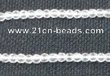 CNC50 15.5 inches 4mm faceted round grade A natural white crystal beads