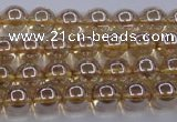 CNC500 15.5 inches 4mm round dyed natural white crystal beads