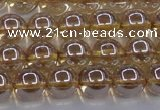 CNC502 15.5 inches 8mm round dyed natural white crystal beads