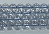 CNC508 15.5 inches 4mm round dyed natural white crystal beads