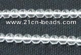 CNC58 15.5 inches 6mm round grade A natural white crystal beads