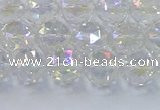 CNC646 15.5 inches 8mm faceted round plated natural white crystal beads