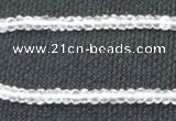 CNC68 2*4mm faceted rondelle grade A natural white crystal beads