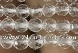 CNC700 15.5 inches 3mm faceted round white crystal beads