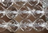 CNC702 15.5 inches 6mm faceted round white crystal beads