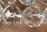 CNC708 15.5 inches 18mm faceted round white crystal beads