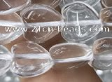 CNC726 15.5 inches 8*8mm heart white crystal beads wholesale