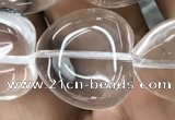 CNC732 15.5 inches 20*20mm heart white crystal beads wholesale