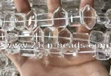 CNC809 12*16mm - 15*22mm faceted freeform white crystal beads