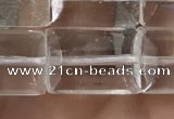 CNC812 15.5 inches 10*14mm faceted rectangle white crystal beads