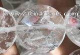 CNC817 15.5 inches 18mm faceted coin white crystal beads