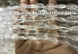 CNC840 15.5 inches 8*12mm faceted oval white crystal beads