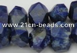 CNG1028 15.5 inches 10*14mm - 15*20mm faceted nuggets lapis lazuli beads