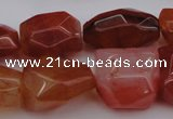 CNG1040 15.5 inches 13*18mm - 15*20mm faceted nuggets carnelian beads