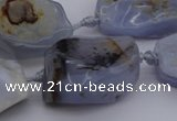 CNG1042 15.5 inches 15*20mm - 30*40mm nuggets blue lace agate beads