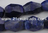 CNG1060 15.5 inches 12*16mm - 15*20mm faceted nuggets lapis lazuli beads