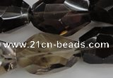 CNG1062 15.5 inches 18*25mm - 22*30mm faceted nuggets smoky quartz beads