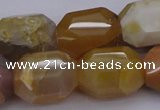 CNG1070 15.5 inches 13*18mm - 16*22mm faceted nuggets Botswana agate beads