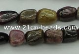 CNG1107 15.5 inches 8*12mm - 10*14mm nuggets tourmaline beads