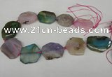 CNG1208 15.5 inches 25*35mm - 35*45mm freeform agate beads