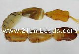 CNG1236 15.5 inches 30*50mm - 40*65mm freeform agate beads