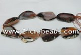 CNG1240 15.5 inches 30*40mm - 35*50mm freeform agate beads