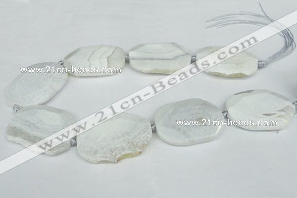 CNG1242 15.5 inches 30*40mm - 40*50mm freeform agate beads