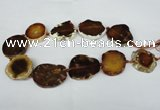 CNG1245 15.5 inches 25*35mm - 30*45mm freeform agate beads